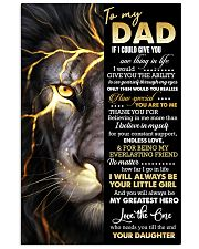 POSTER - TO MY DAD - THANK YOU 16x24 Poster front