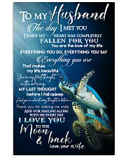 TO MY HUSBAND - TURTLE - I LOVE YOU 16x24 Poster front