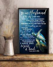 TO MY HUSBAND - TURTLE - I LOVE YOU 16x24 Poster lifestyle-poster-3