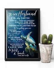 TO MY HUSBAND - TURTLE - I LOVE YOU 16x24 Poster lifestyle-poster-8