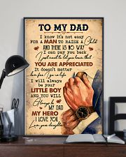 To My Dad - Vintage - Poster 16x24 Poster lifestyle-poster-2