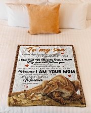 "Dinosaur - Every Day That You Are Not With Me Small Fleece Blanket - 30"" x 40"" aos-coral-fleece-blanket-30x40-lifestyle-front-04"