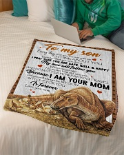 "Dinosaur - Every Day That You Are Not With Me Small Fleece Blanket - 30"" x 40"" aos-coral-fleece-blanket-30x40-lifestyle-front-07"