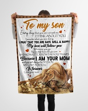 "Dinosaur - Every Day That You Are Not With Me Small Fleece Blanket - 30"" x 40"" aos-coral-fleece-blanket-30x40-lifestyle-front-14"