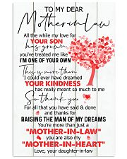 TO MY MOTHER-IN-LAW - TREE 16x24 Poster front