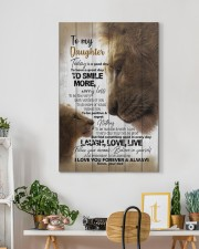 To My Daughter - Lions - Today Is A Good Day 20x30 Gallery Wrapped Canvas Prints aos-canvas-pgw-20x30-lifestyle-front-03