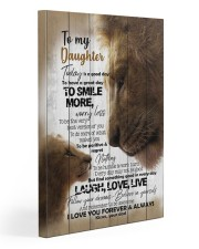 To My Daughter - Lions - Today Is A Good Day 20x30 Gallery Wrapped Canvas Prints front