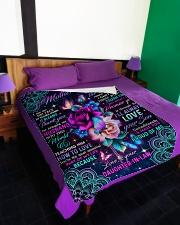 "To My Mother-in-law - Flower - Fleece Blanket Large Fleece Blanket - 60"" x 80"" aos-coral-fleece-blanket-60x80-lifestyle-front-01"