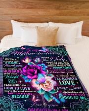 "To My Mother-in-law - Flower - Fleece Blanket Large Fleece Blanket - 60"" x 80"" aos-coral-fleece-blanket-60x80-lifestyle-front-02"