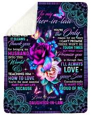"""To My Mother-in-law - Flower - Fleece Blanket Large Sherpa Fleece Blanket - 60"""" x 80"""" thumbnail"""