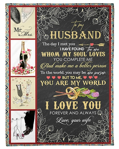 TO MY HUSBAND - WINE AND GLASS - I LOVE YOU