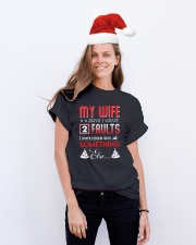 My wife says I have 2 faults Classic T-Shirt lifestyle-holiday-crewneck-front-1