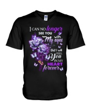 ANGEL IN HEAVEN - ROSES - IN MY HEART FOREVER V-Neck T-Shirt thumbnail