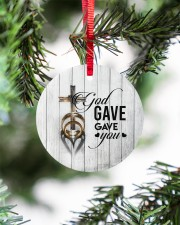 To My Wife - Cross - God gave me you Circle ornament - single (porcelain) aos-circle-ornament-single-porcelain-lifestyles-07