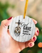 To My Wife - Cross - God gave me you Circle ornament - single (porcelain) aos-circle-ornament-single-porcelain-lifestyles-09