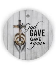 To My Wife - Cross - God gave me you Circle ornament - single (wood) thumbnail