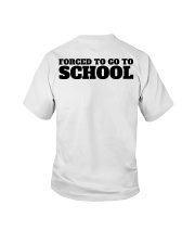 Born to be a Paleontologist Forced to go to school Youth T-Shirt back