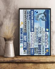 To My Mom - Dolphin - Poster 16x24 Poster lifestyle-poster-3