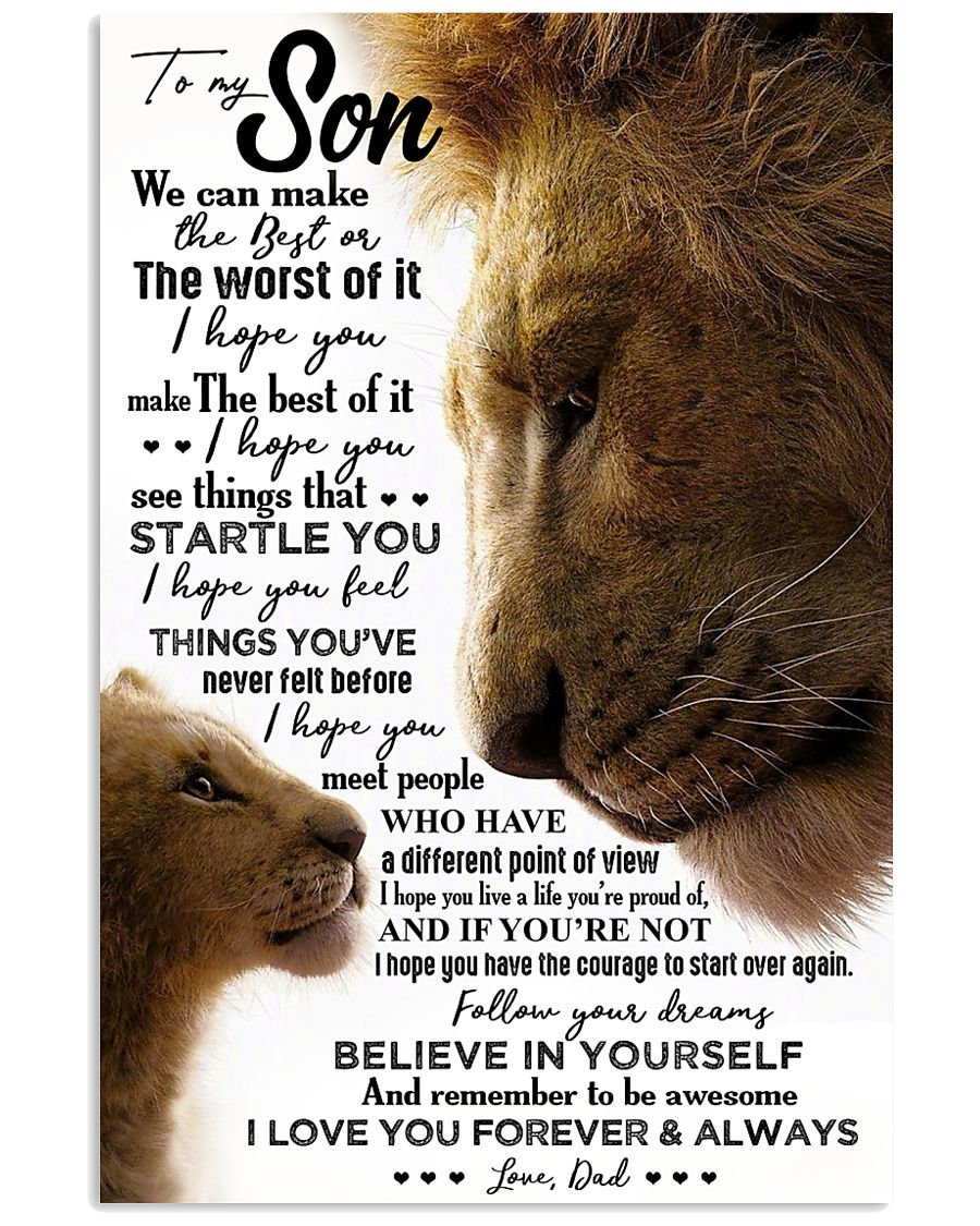 POSTER - TO MY SON - LION - WE CAN 16x24 Poster