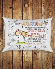 TO MY GIRLFRIEND - COUPLE - I LOVE YOU Rectangular Pillowcase aos-pillow-rectangle-front-lifestyle-2
