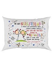 TO MY GIRLFRIEND - COUPLE - I LOVE YOU Rectangular Pillowcase back