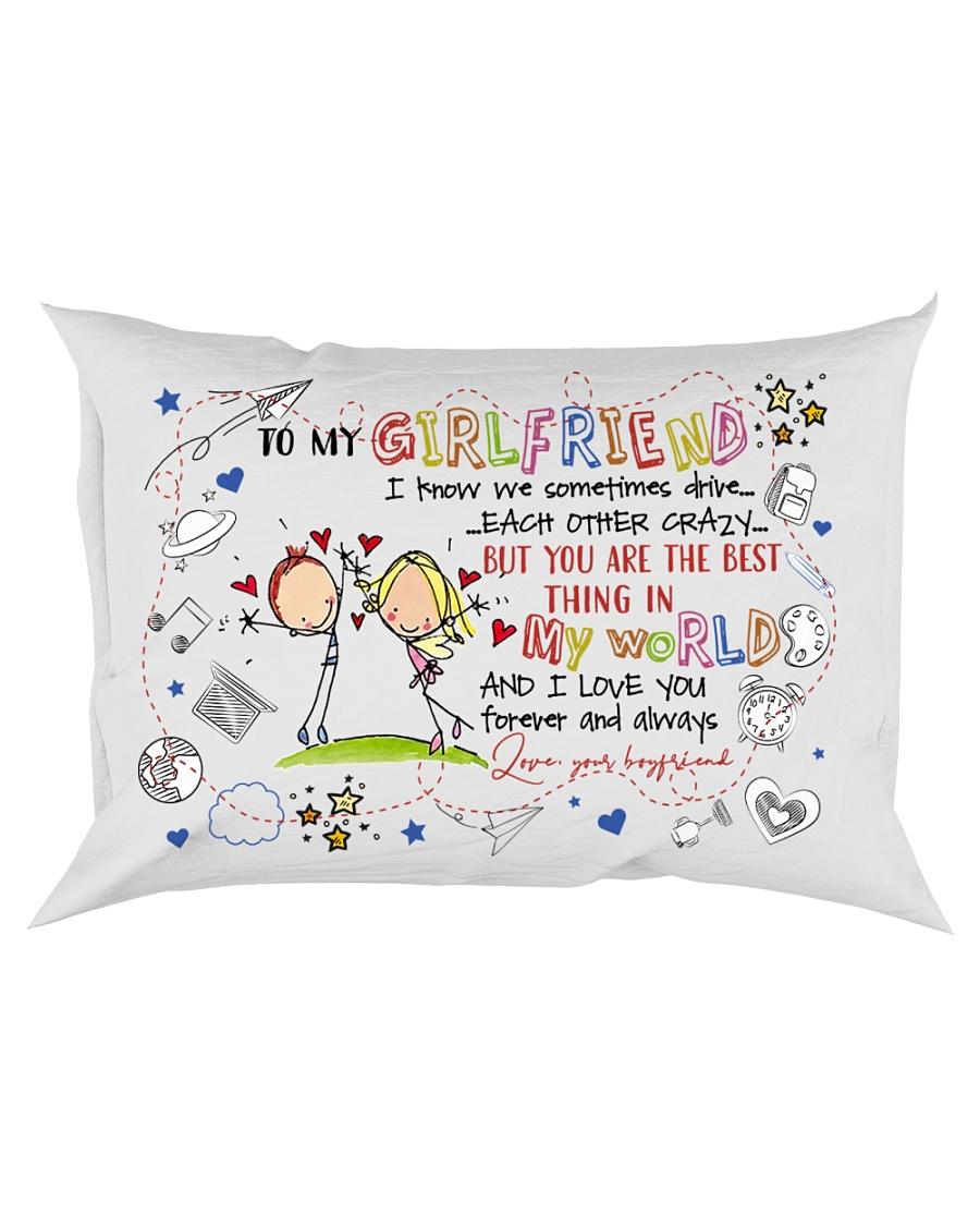 TO MY GIRLFRIEND - COUPLE - I LOVE YOU Rectangular Pillowcase