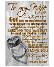 TO MY WIFE - COUPLE RINGS - I LOVE YOU 16x24 Poster front