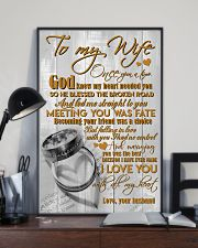 TO MY WIFE - COUPLE RINGS - I LOVE YOU 16x24 Poster lifestyle-poster-2