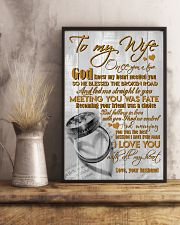 TO MY WIFE - COUPLE RINGS - I LOVE YOU 16x24 Poster lifestyle-poster-3
