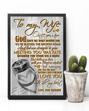 TO MY WIFE - COUPLE RINGS - I LOVE YOU 16x24 Poster lifestyle-poster-8