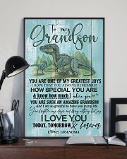 GRANDMA TO GRANDSON - T REX - FOREVER 16x24 Poster lifestyle-poster-2