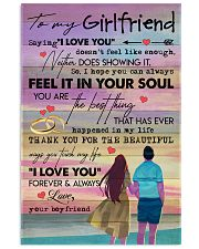 TO MY GIRLFRIEND - COUPLE - I LOVE YOU 16x24 Poster front