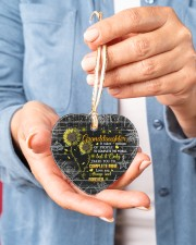 Grandparent to Granddaughter - It Only Takes You Heart ornament - single (porcelain) aos-heart-ornament-single-porcelain-lifestyles-01