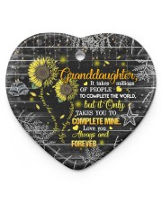 Grandparent to Granddaughter - It Only Takes You Heart ornament - single (porcelain) front