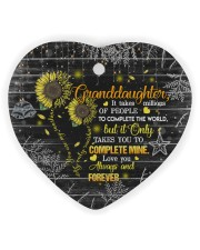 Grandparent to Granddaughter - It Only Takes You Heart Ornament (Wood) tile