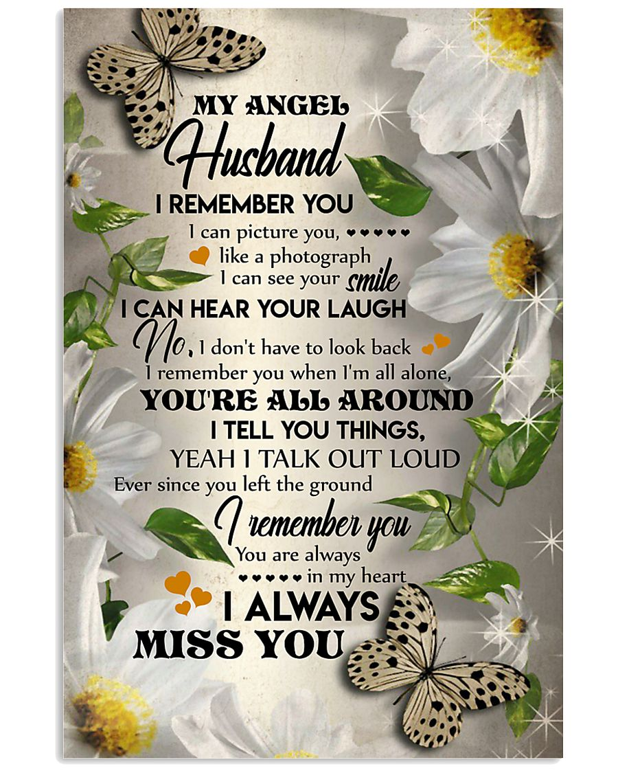 MY ANGEL HUSBAND - BUTTERFLY - I LOVE YOU 16x24 Poster