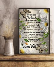 MY ANGEL HUSBAND - BUTTERFLY - I LOVE YOU 16x24 Poster lifestyle-poster-3