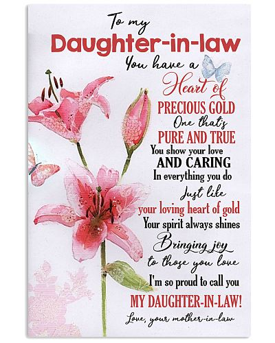 TO MY DAUGHTER-IN-LAW - PINK LILY - I LOVE YOU