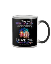 Daughter-in-law - Hippie - God Blessed The Broken Color Changing Mug thumbnail