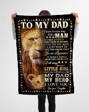 "FLEECE BLANKET - GOD - LION Small Fleece Blanket - 30"" x 40"" aos-coral-fleece-blanket-30x40-lifestyle-front-14"