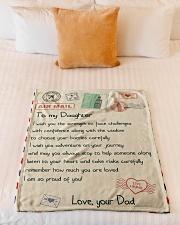 "Gift For Daughter - Fleece Blanket  Small Fleece Blanket - 30"" x 40"" aos-coral-fleece-blanket-30x40-lifestyle-front-04"