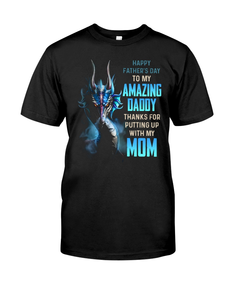 T-SHIRT - TO MY BONUS DAD - DRAGON Classic T-Shirt