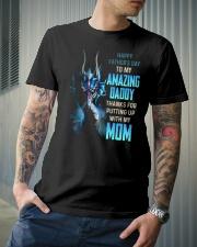 T-SHIRT - TO MY BONUS DAD - DRAGON Classic T-Shirt lifestyle-mens-crewneck-front-6