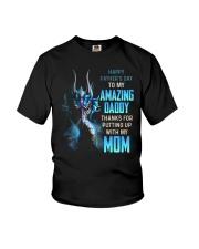 T-SHIRT - TO MY BONUS DAD - DRAGON Youth T-Shirt thumbnail
