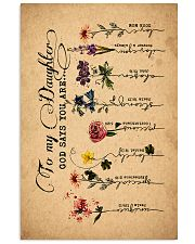 To Daughter - Flowers - God Says You Are - Canvas Vertical Poster tile