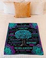 "Daughter - Turquoise Tree - Always Remember How Small Fleece Blanket - 30"" x 40"" aos-coral-fleece-blanket-30x40-lifestyle-front-04"