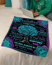 "Daughter - Turquoise Tree - Always Remember How Small Fleece Blanket - 30"" x 40"" aos-coral-fleece-blanket-30x40-lifestyle-front-07"
