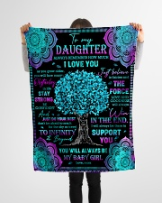 "Daughter - Turquoise Tree - Always Remember How Small Fleece Blanket - 30"" x 40"" aos-coral-fleece-blanket-30x40-lifestyle-front-14"