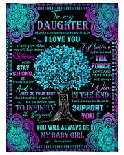 "Daughter - Turquoise Tree - Always Remember How Small Fleece Blanket - 30"" x 40"" front"