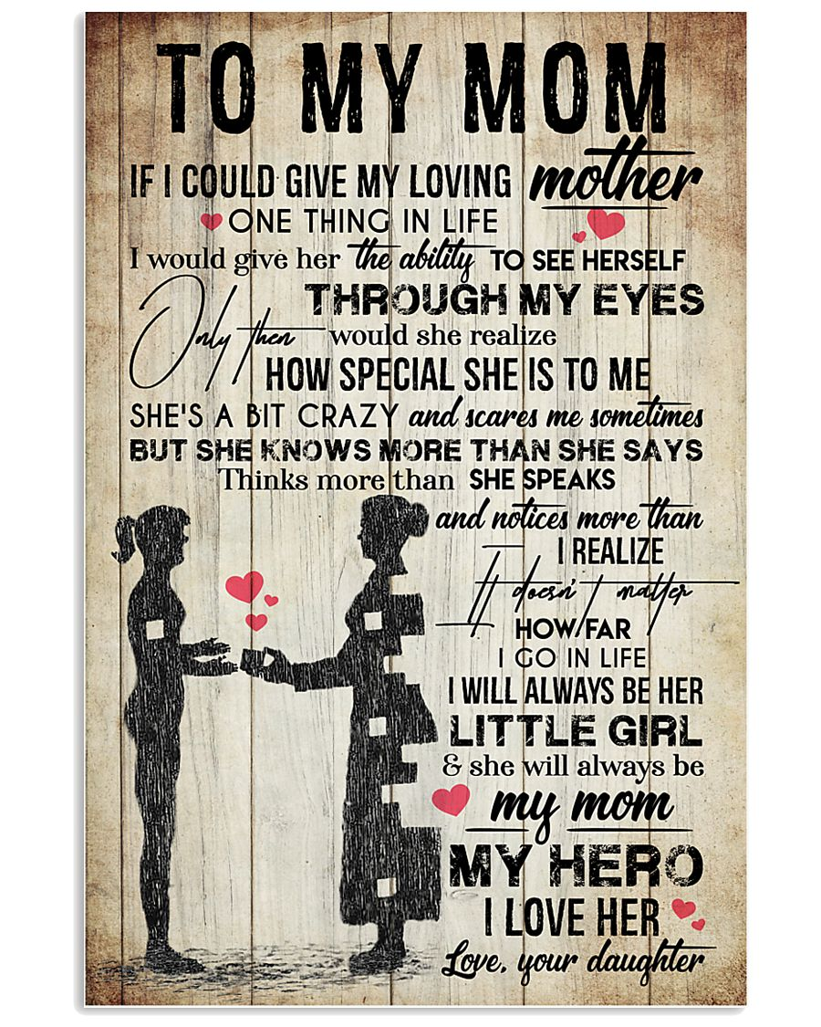 TO MY MOM - VINTAGE - YOU ARE APPRECIATED 16x24 Poster